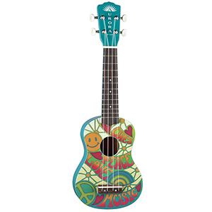Luna Guitars Aurora Childrens Ukulele - Peace V2