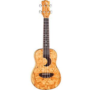 Luna Guitars Olive Ash Burl Ukulele