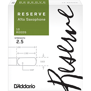 Daddario Reserve Alto Saxophone Reeds 10-pack