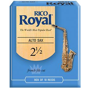 Rico Alto Royal  Sax Reeds 2.5 - 10-pack