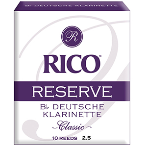 Rico Reserve Classic German Bb Clarinet Reeds 2.5 - 10 pack