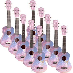Luna Guitars Aurora Childrens Ukulele - Faerie 10-Pack *Blemished