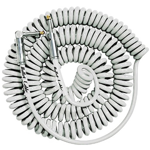 Bullet Cable 30 Foot Coil Straight to Angle - White