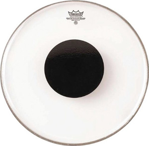 Remo Controlled Sound Clear Black Dot Drumhead - 15 Inch [CS-0315-10]