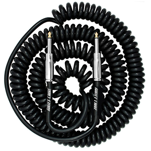 Bullet Cable 30 Foot Coil Black Straight to Straight