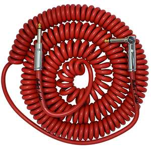 Bullet Cable 30 Foot Coil Red Straight to Angle