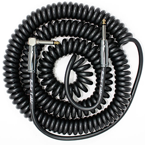 Bullet Cable 30 Foot Coil Black - Straight to Angle
