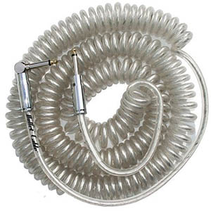 Bullet Cable 30 Foot Coil Straight to Angle - Clear