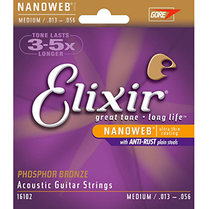Elixir Acoustic Phosphor Bronze with NANOWEB Coating - Medium