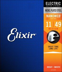 Elixir Electric Nickel Plated Steel with NANOWEB Coating - Medium