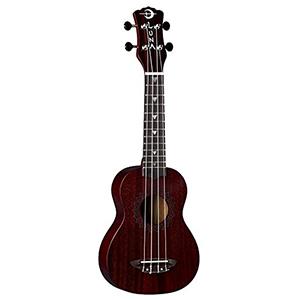 Luna Guitars Vintage Mahogany Soprano Ukulele Red Satin