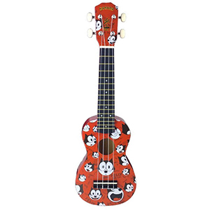 Kahuna Felix The Cat Soprano Ukulele - Red