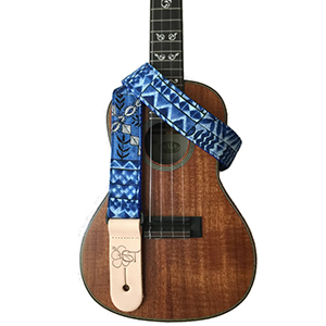 Sherrins Threads Hawaiian Ukulele Strap - Ocean Tapa