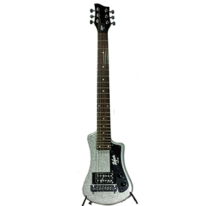 Hofner Shorty Guitar - Metallic Silver