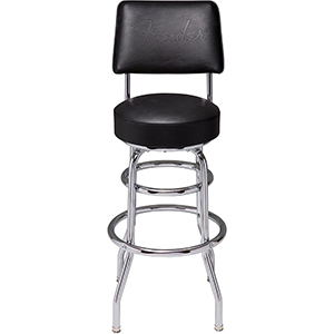 Fender 30-Inch Blackout Backrest Barstool