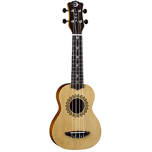 Luna Guitars Uke Vintage Spruce - Soprano