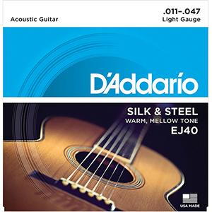 Daddario EJ40 Silk & Steel Light