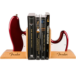 Fender Bass Body Bookends - Red