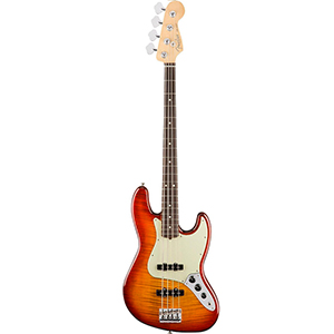 Fender American Professional Jazz Bass FMT - Aged Cherry Burst