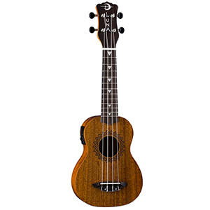 Luna Guitars Uke Vintage Mahogany w/ Preamp - Soprano