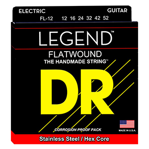 DR FL-12 Flatwound Electric Guitar Strings 12-52