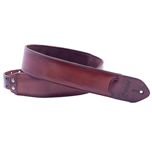 RightOn Leathercraft Guitar Strap Vintage Brown