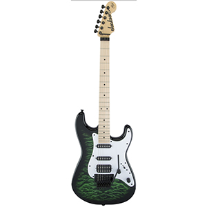 Jackson Adrian Smith Signature SDXQ Transparent Green Burst