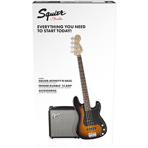 Squier Affinity Series Precision Bass PJ Pack - Brown Sunburst