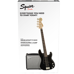 Squier Affinity Series Precision Bass PJ Pack - Black