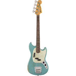 Fender JMJ Road Worn Mustang Bass - Faded Daphne Blue