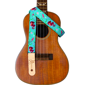 Sherrins Threads Printed Ukulele Straps - Pink Mermaid