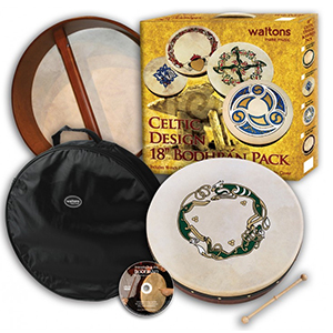 Waltons 18-inch Bodhran Pack -  Chase Design