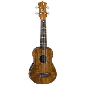 Luna Guitars Uke High Tide Soprano A/E - Koa