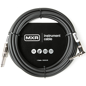 MXR DCIS15R 15-Foot Straight-Right Angled Instrument Cable
