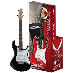 Dean Playmate Avalanche Guitar Package - Black