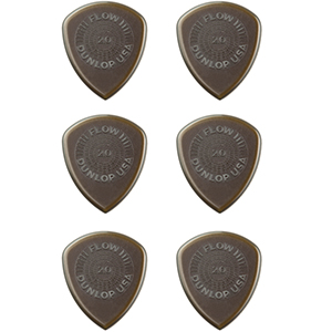 Dunlop 549P2.0 2.0 Flow Standard Grip 2.0mm Guitar Pick - 6 Pack