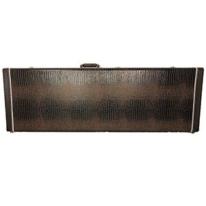 TKL 8836 LTD Electric Square Bass Hardshell Case - Brown Alligator