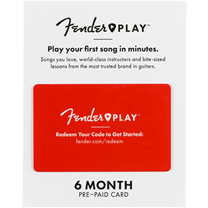 Fender Play Prepaid Cards - 6 Month Subscription