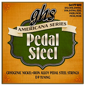 GHS PF600  Americana Series Pedal Steel E9 Tuning