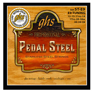 GHS Pedal Steel Super Steels - E9 Tuning