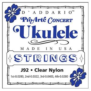 Daddario J92 Pro-Arte Clear Nylon Ukulele Strings - Concert