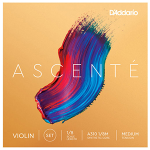 Daddario Ascente Violin String Set 1/8 - Medium