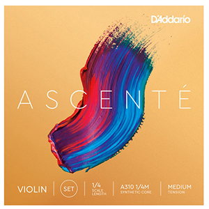 Daddario Ascente Violin String Set 1/4 - Medium