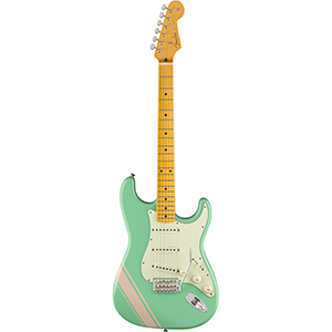 Fender Japan FSR Traditional 50s Stratocaster - Surf Green with Shell Pink Stripes