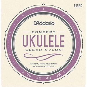 Daddario EJ65C Concert Ukulele Clear Nylon