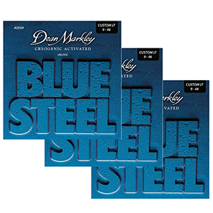 Dean Markley 2554 Blue Steel Custom Light  - 3 Pack