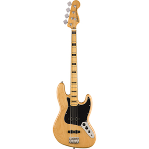 Squier Classic Vibr 70S Jazz Bass - Natural