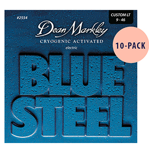 Dean Markley 2554 Blue Steel Custom Light  - 10 Pack