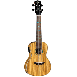 Luna Guitars High Tide Series Zebrawood Ukulele