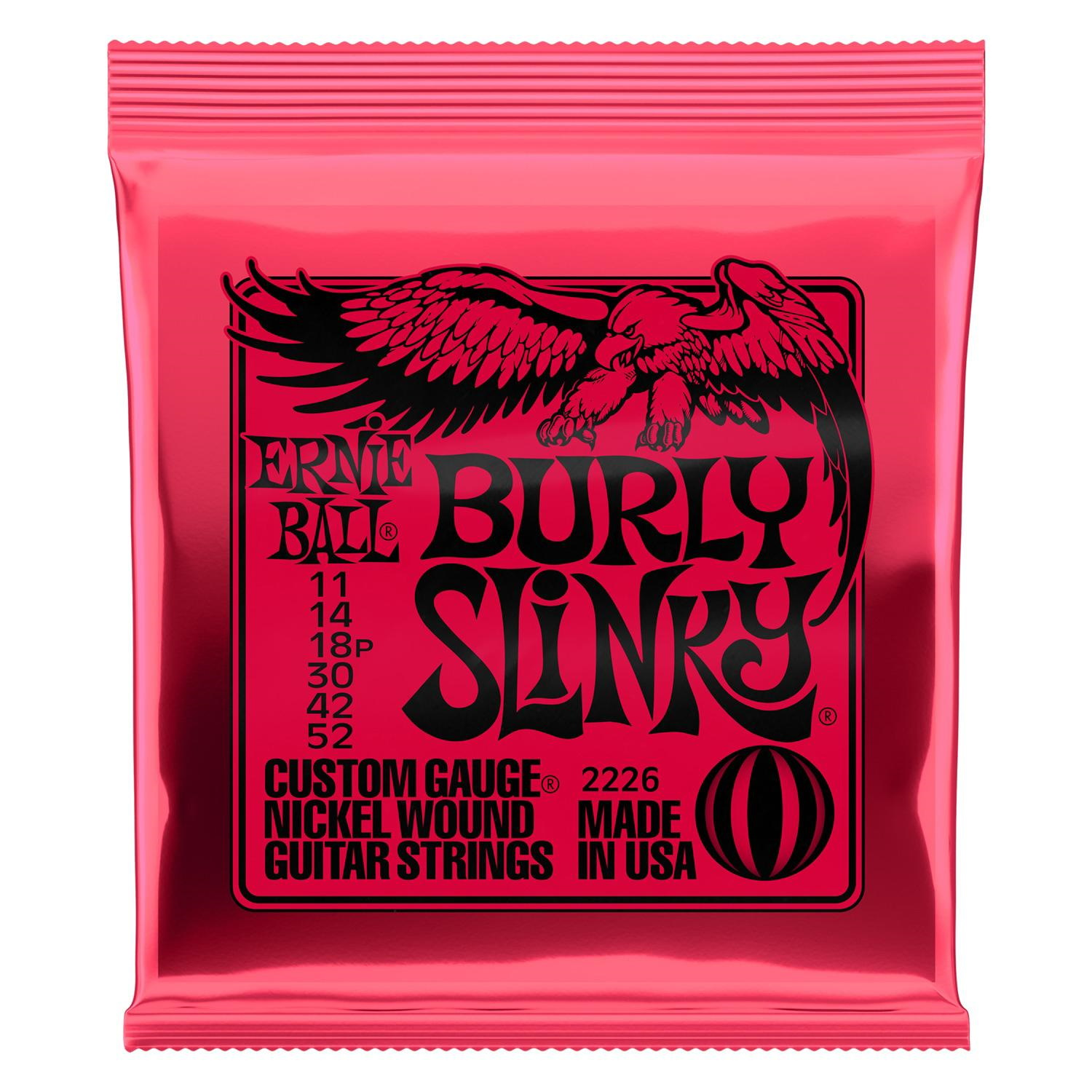 Ernie Ball 2226 Burly Slinky Nickelwound Electric Guitar Strings 11-52